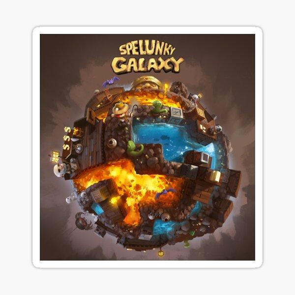 Spelunky Galaxy Sticker