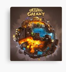 Spelunky Galaxy Canvas Print