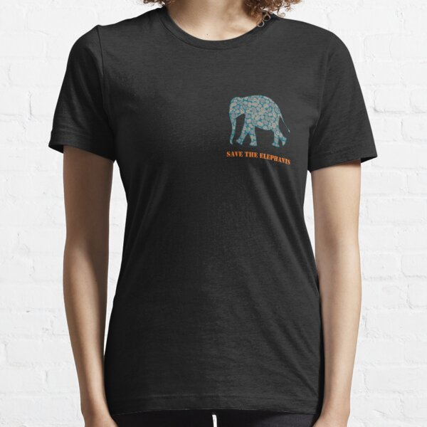 Save the Elephants Paisley Pattern Essential T-Shirt