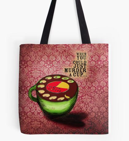 What my #Coffee says to me - July 9, 2012 Pillow Tote Bag