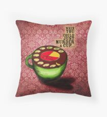 What my #Coffee says to me - July 9, 2012 Pillow Throw Pillow