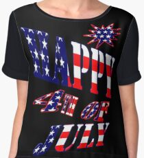 Happy 4th of July-  Art + Products Design  Chiffon Top
