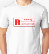 Rated R: Language Warning Unisex T-Shirt