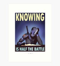 "G.I. Joe - Snake Eyes ""KNOWING IS HALF THE BATTLE"" Art Print"