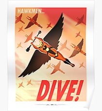 "Flash Gordon - Prince Vultan ""HAWKMEN DIVE!"" Poster"