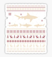 Shark Ugly Christmas Sweater Sticker