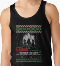 The Walking Dead - Michonne Ugly Christmas Sweater! Tank Top