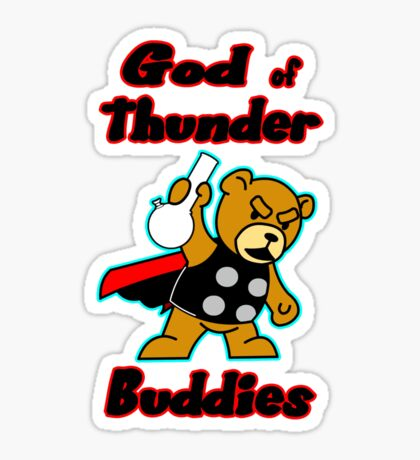 God of Thunder Buddies Sticker