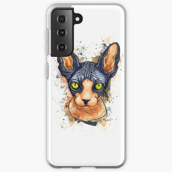 Portrait de chat Sphynx Coque souple Samsung Galaxy