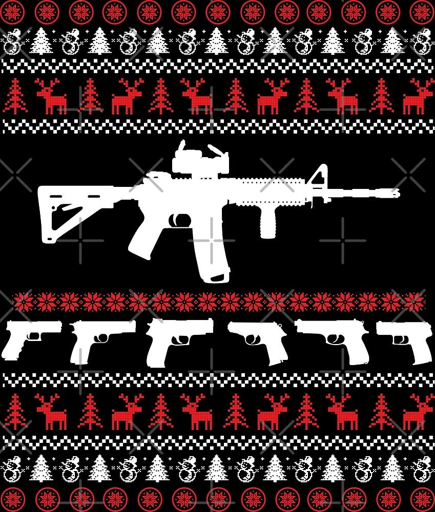 AR 15 Ugly Christmas Sweater by wantneedlove