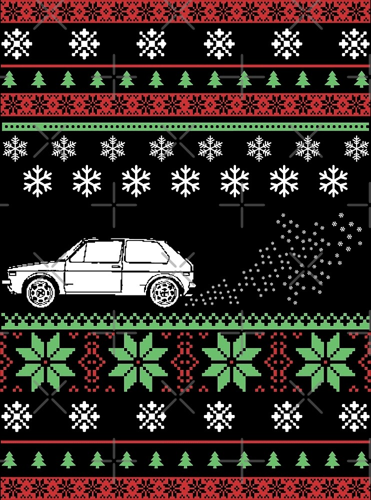 MK1 Golf Ugly Christmas Sweater Style by wantneedlove