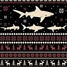Shark Ugly Christmas Sweater by wantneedlove