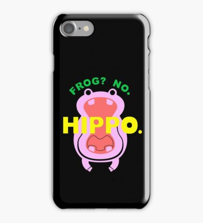 Frog No Hippo iPhone Case/Skin