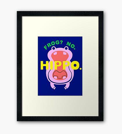 Frog No Hippo Framed Print