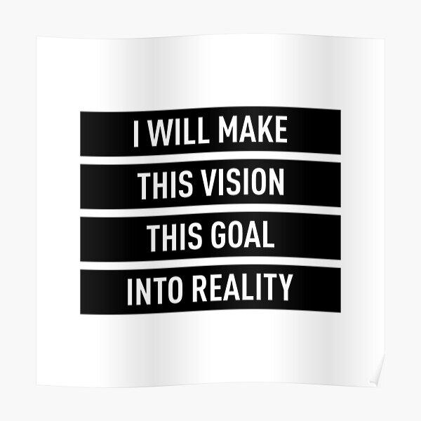 Haré realidad esta visión, este objetivo Póster