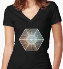 Angles Women's Fitted V-Neck T-Shirt