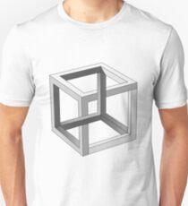 Impossible Cube Optical Illusion  Unisex T-Shirt