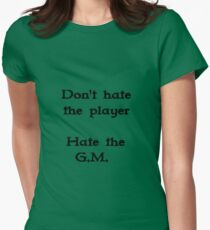 Don't hate the player #1 Womens Fitted T-Shirt