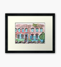Stree Life Sketching - real watercolour Framed Print