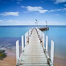Safety Beach Pier on a beautiful blue sky day on the Mornington Peninsula by Ben  Cadwallader