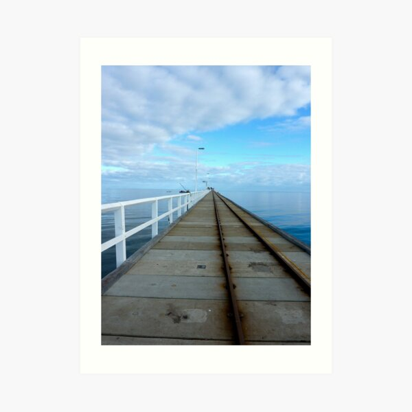 About 1km - Busso jetty Art Print