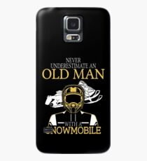 Never Underestimate An Old Man With A Snowmobile Case/Skin for Samsung Galaxy