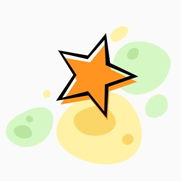 Offset star, orange and green - sticker de Mhea