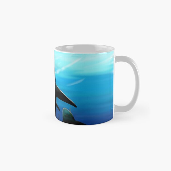 Shark, from the Abyss of Soul Digital Painting Classic Mug