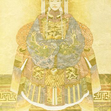 Chinese Empress on Her Throne by tillymagoo