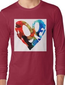 Love 8 - Heart Hearts Romantic Art Long Sleeve T-Shirt