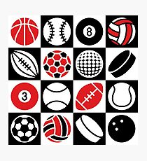 Sport Ball Checkerboard Photographic Print
