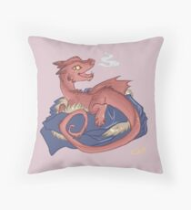 Baby Smaug - commissioned by smauglet Throw Pillow