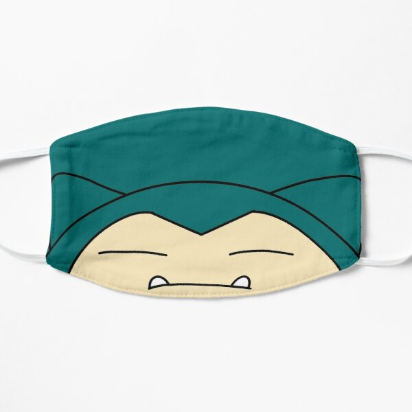 The face of snorlax Flat Mask
