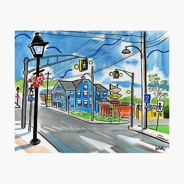 Directions Aberdeen and Webster St. Kentville Nova Scotia Photographic Print