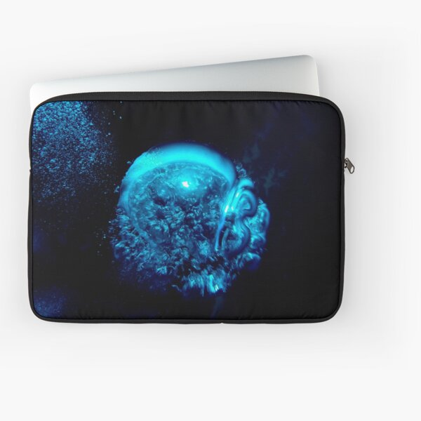 Blue underwater abstract bubble Laptop Sleeve