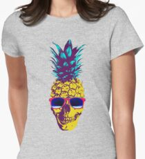 Pineapple Skull Womens Fitted T-Shirt