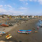 Beach Scene at Engabao, Ecuador by Paul Wolf