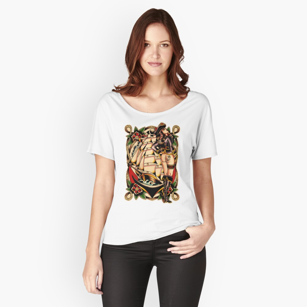 Sexy Pirate Girl Loose Fit T-Shirt