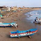 Rolling the Boat Ashore, Engabao, Ecuador by Paul Wolf