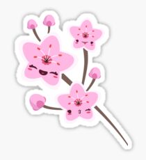 Cherry Blossom Smile Sticker