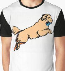 Jumping Dog Graphic T-Shirt