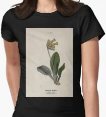 Wayside and woodland blossoms a pocket guide to British wild flowers for the country rambler  by Edward Step 1895 002 Cowslip Paigle Womens Fitted T-Shirt