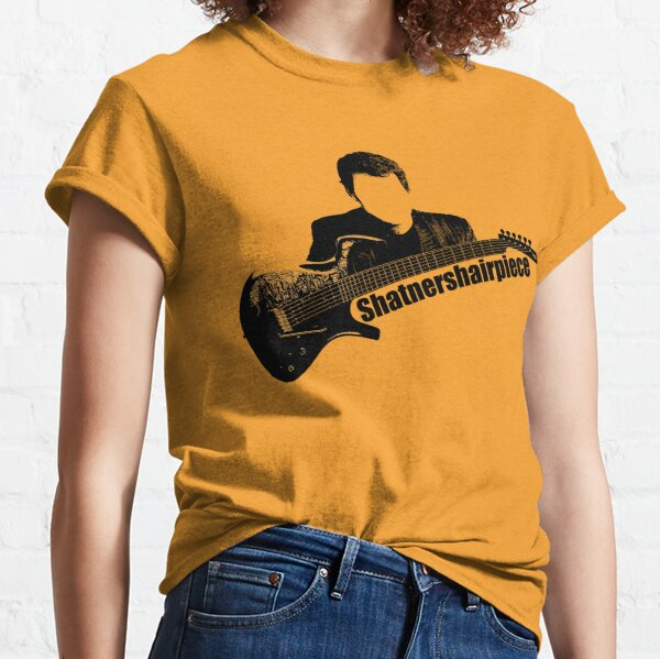 Shatnershairpiece Parker fly guitar logo (black with no background square) Classic T-Shirt