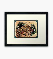 Tiger x Snake (Battle Royale) Framed Print