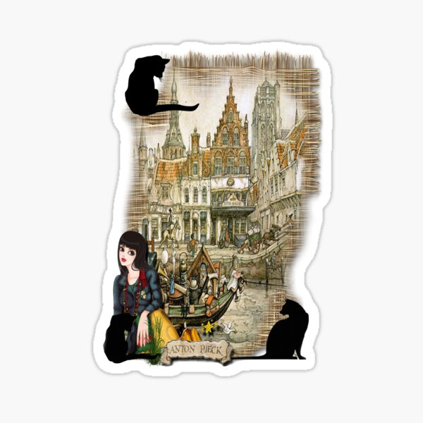 November - Canals in old Amsterdam Sticker