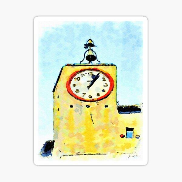 Bracciano: clock tower of the Anguillara village Sticker