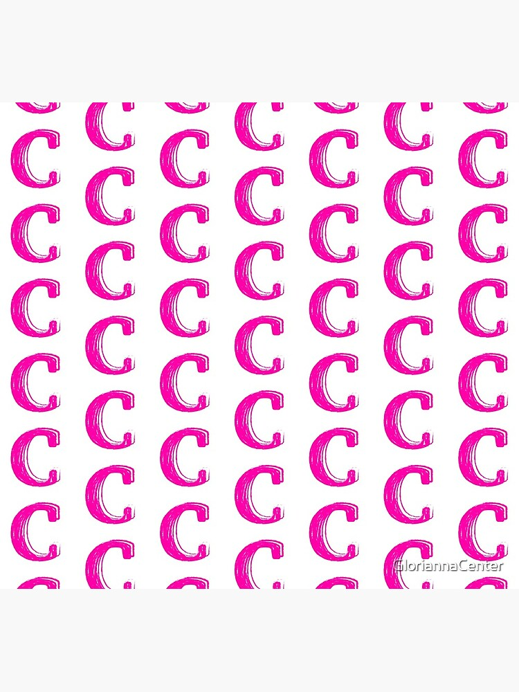 Pink chalk letter C by GloriannaCenter