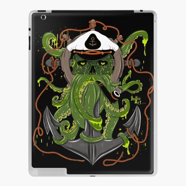 """"""" Captain Octopus """" by Julia Art iPad Skin"""