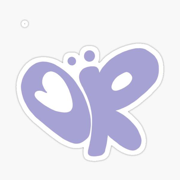 OR butterfly logo olivia rodrigo purple Sticker