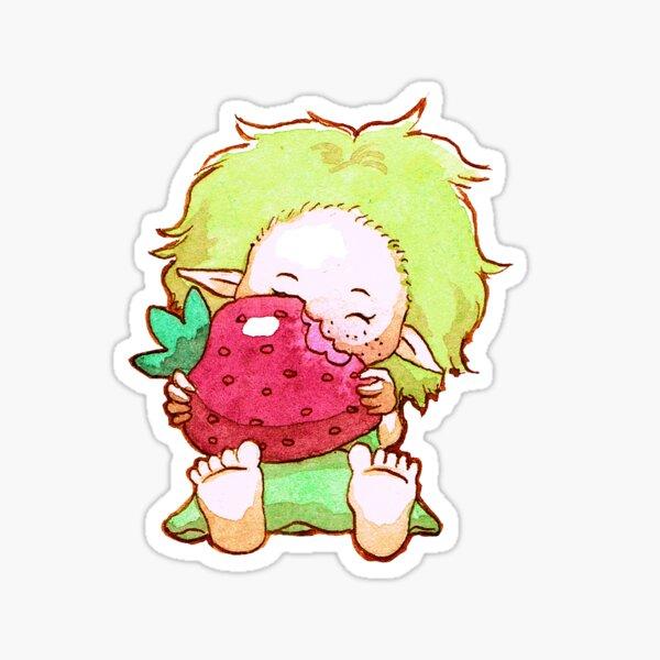 Wisp strawberry Sticker